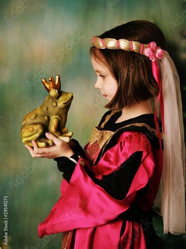 Fotografie, Obraz  Princess and the frog prince