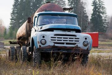 Old Soviet gasoline tank truck