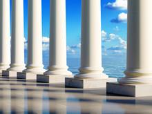 Ancient Columns At Coast
