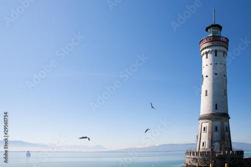 Foto op Aluminium Vuurtoren Neuer Lindauer Leuchtturm