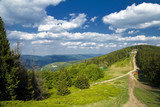 Fototapeta Na ścianę - Widok z góry Klimczok. Beskidy latem