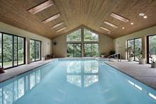 Indoor Pool With Skylights