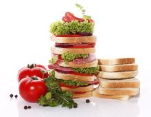 Tasty Sandwich With Salami