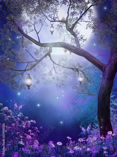 Obrazy tajemniczy ogród zaczarowana-laka-z-fioletowymi-kwiatami