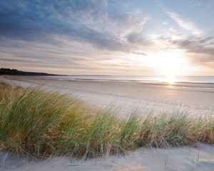 Obraz na PlexiHarlech beach sunset
