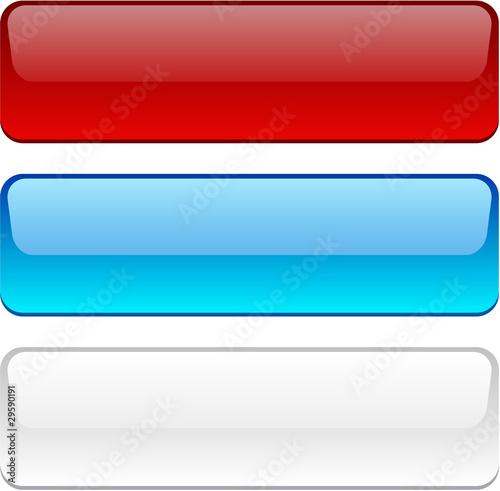Fotografie, Obraz  Three Rectangle buttons.