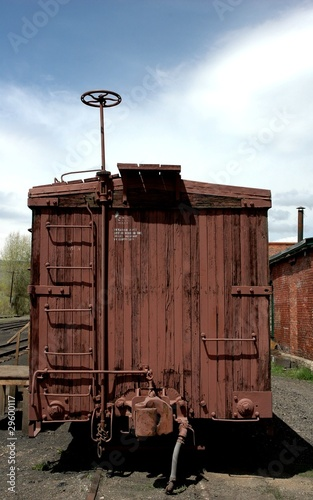 Fotografie, Obraz  Antique narrow gauge rail car