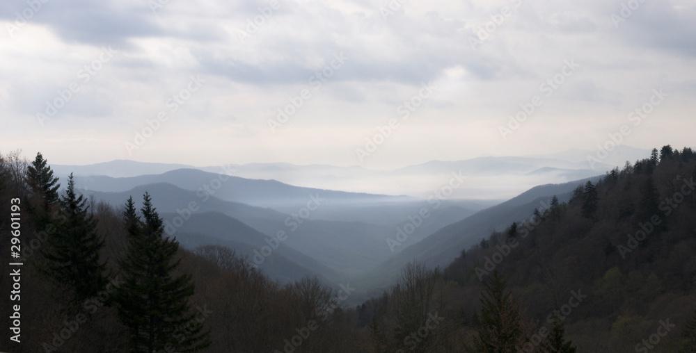 Fototapety, obrazy: Smoky Mountain Sunset