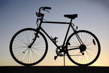 Silhouette Of A Vintage Bicycle