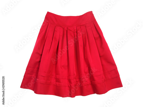 Fototapeta Red women skirt