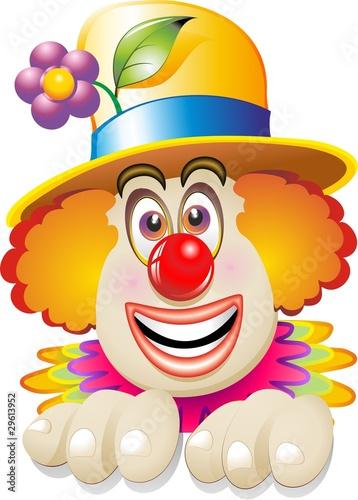 Pagliaccio Faccia-Maschera-Carnival Clown's Face-Vector Fototapeta