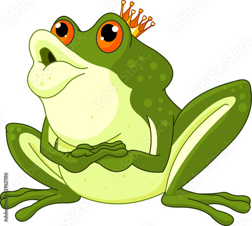 Photo  Frog Prince waiting to be kissed