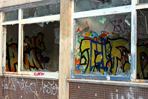 Deurstickers Graffiti collage Fenster