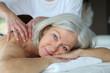 canvas print picture - Senior woman having a massage