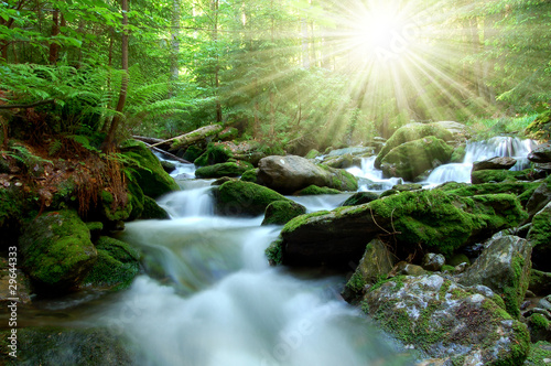 Photographie Waterfall in the national park Sumava-Czech Republic