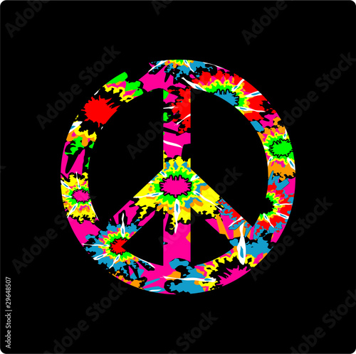 9618dc08 Tie Dye Peace Sign - Buy this stock vector and explore similar ...