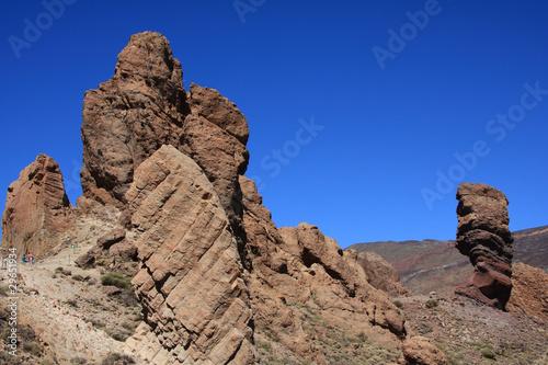 Staande foto Bleke violet mountains Tenerife