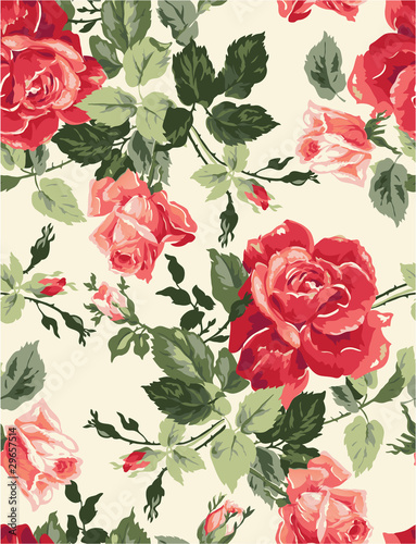 Fotografie, Tablou  Fancy rose wallpaper
