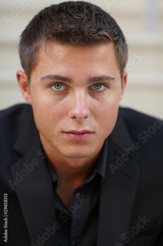 Fotografie, Obraz  Headshot of a young caucasian businessman