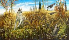 A Dog Chasing Hazel Grouses, I...