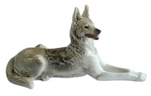 Isolated Ceramic Shepherd Dog