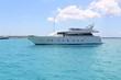 luxury yacht in turquoise Illetes Formentera