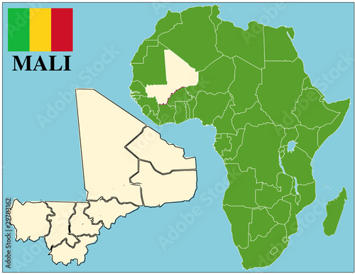 Mali Emblem Map Africa World Business Success Background Buy This