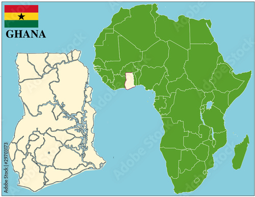 Map Of Africa Showing Ghana.Ghana Emblem Map Africa World Business Success Background Buy This