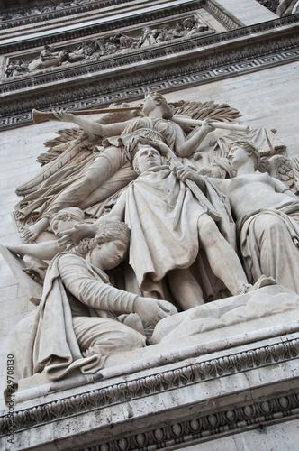Fotografia  arc de triomphe  Paris détail  1810