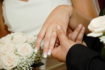 Obraz na płótnie Canvas Scambio degli anelli - Matrimonio civile