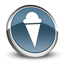 "Dark Blue 3D Style Icon ""Ice Cream"""