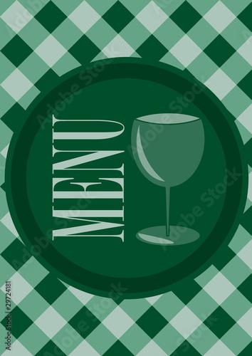 Obraz na plátně Menu Card Design