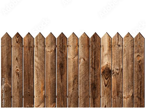 Fotografía  wooden fence