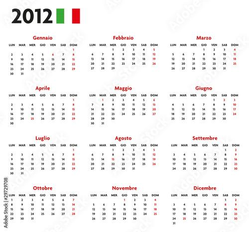 Calendario Con Festivita.Base Calendario Italiano Con Festivita 2012 Buy This Stock