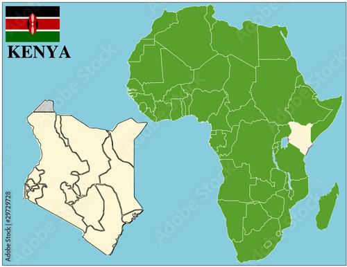 Kenya emblem map africa world business success background – kaufen ...