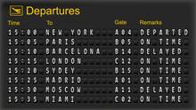 Departure Mechanical Board. Ve...