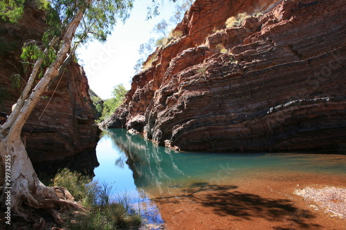 Spoed Foto op Canvas Australië Hamersley Gorge, Karijini National Park