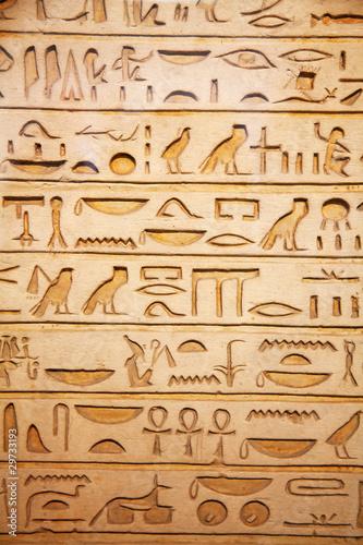 Tuinposter Egypte old egypt hieroglyphs