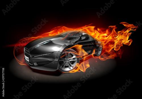wypalenie-samochodu-sportowego