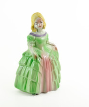 Victorian Figurine On White Ba...