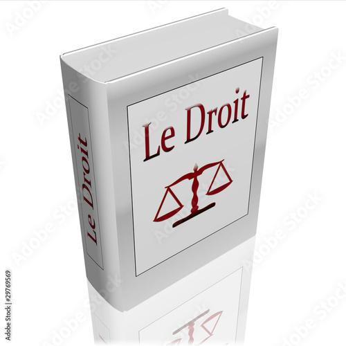 """Photo  livre """"le droit"""" 3d"""