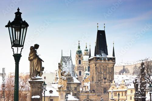 Poster Prague Karlov or charles bridge in Prague