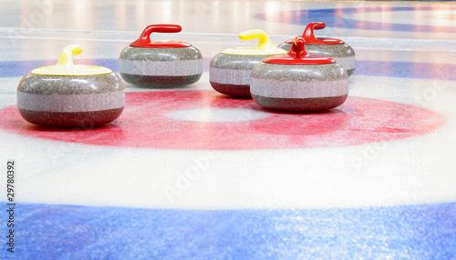 Foto curling  stones in target