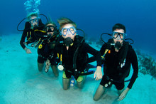 Family Scuba Diving Together