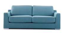 Cutout Blue Couch