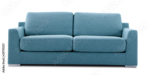 Obraz cutout blue couch - fototapety do salonu
