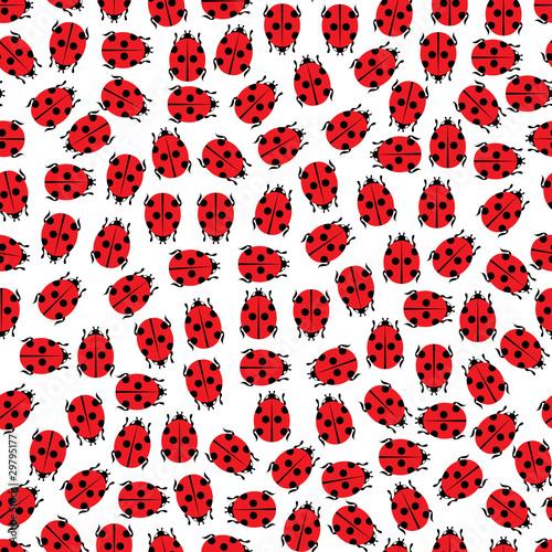 Spoed Fotobehang Lieveheersbeestjes ladybirds pattern