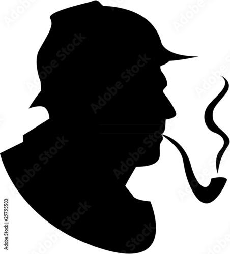 Fotografía  the vector silhouette pipe smoker