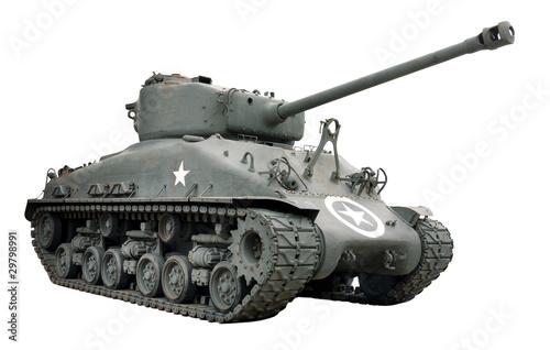 Fotografie, Obraz  Sherman Tank
