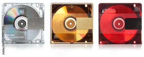 Fotografie, Tablou Audio mini discs for music #2. Set | Isolated